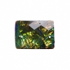 Resin Sew-on Dichroic Style 10pcs 15x21mm Rectangle Abalone